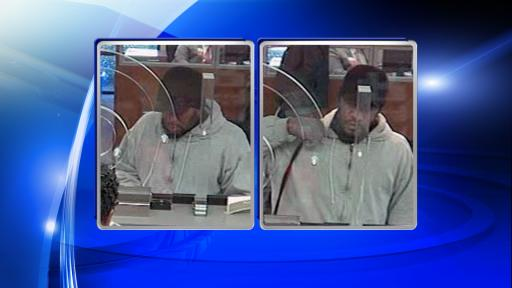 Fayetteville police were searching Monday afternoon for a man who authorities say robbed a Wells Fargo branch on Raeford Road.