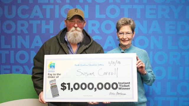 Susan Carroll won $1 million on an Ultimate Millions scratch-off ticket.