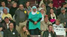 IMAGE: NC pair thrown from Trump rally tried to make statement about hate
