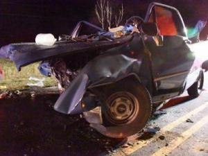 A 25-year-old Middlesex man died Monday in a car accident when his pickup truck was hit head-on by another vehicle.