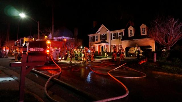 An explosion at a home in Raleigh on Wednesday morning charred part of the house and destroyed a boat.