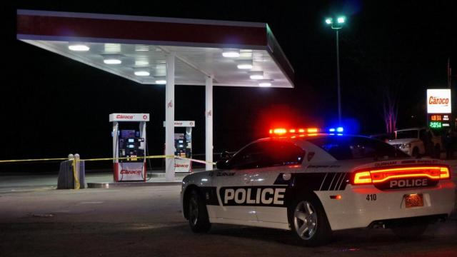 An unidentified man was taken to Duke University Hospital late Wednesday after being shot at a gas station on Fayetteville Street, Durham police said.