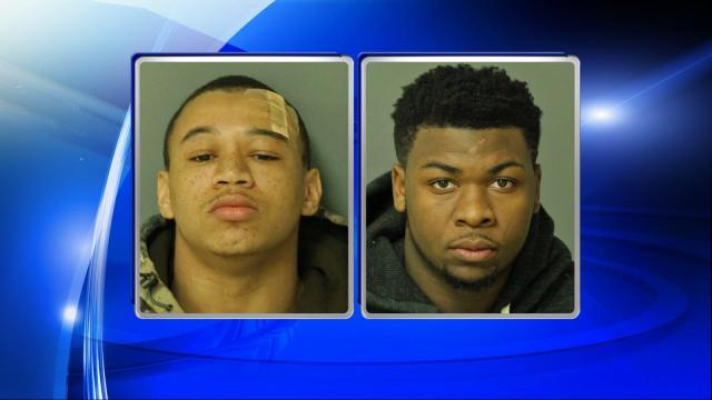 Kevin Contrell Hardin, 19, and Brandon Khalil Sandy, 18, were both charged with assault with a deadly weapon with intent to kill inflicting serious injury.