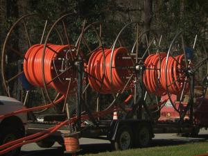 Across the Triangle, contractors for Google and AT&T are racing to be the first to upgrade to fiber and get new business for high-speed Internet.