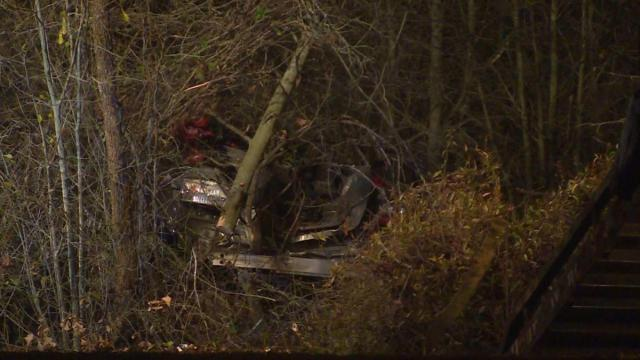 Two people died and another was injured late Friday night in a single-vehicle wreck in Fayetteville, officials said.