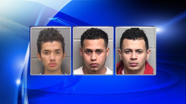 From left: Michael Yoel Maldonado-Madrid, 20, Jose Daniel Cartenga-Juarez, 18, and Osman Joel Calderon-Juarez, 19.