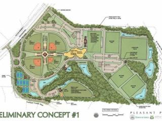 A preliminary concept for Apex's Pleasant Park.