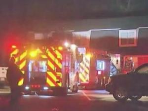 Two people were taken to the hospital Monday night when they jumped from the second floor of a Garner apartment complex after a fire broke out.