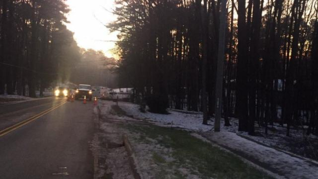 Neighbors in Wake Forest are without water service in their homes on Tuesday morning as crews from the Public Utilities Department in Raleigh are working to repair a water main break.