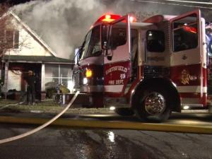Investigators are on the scene Saturday morning of a fatal house fire in Smithfield.