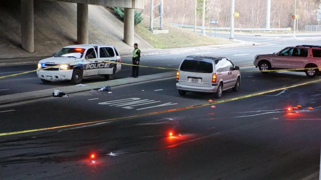 An unidentified man was critically hurt early Monday after being hit by a vehicle on North Roxboro Street in Durham.