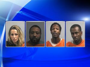 The Wayne County Sheriff's Office took four people into custody in connection to a Dudley man's murder. Those in custody are (from left): Jennele Lea howard, Montrell Demontrio Allen, Darius Lamar Chestnut and Jerry Aundrey Parks.
