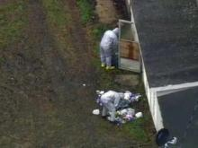 RAW: Sky 5 flies over Apex hazmat scene