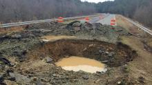 IMAGES: Sinkhole blocking Chatham road keeps growing; fix is 2 months away