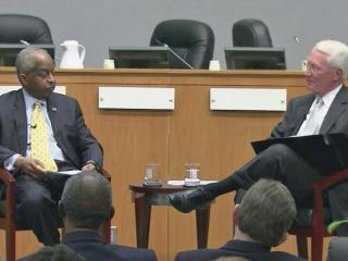 Durham Mayor Bill Bell opted for a sit-down discussion format for the 14th annual State of the City address Monday night, creating a more intimate and personal feel as he talked about what he considers to be top priorities.