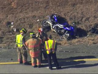 The rider of a motorcycle caused a head-on collision Wednesday on U.S. Highway 401.
