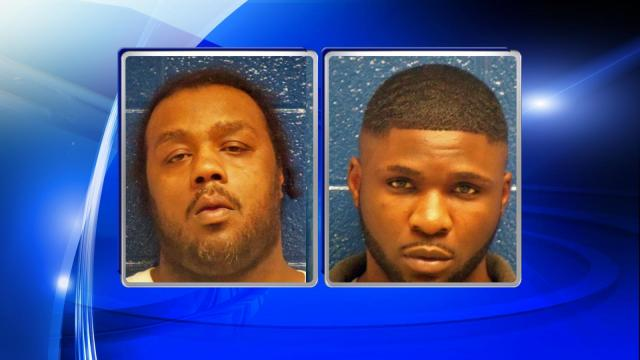 Akbar James Carter III (left) and Carl Tyshun Jordan (right) were being held at teh Nash County Detention Center.