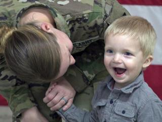 More than 70 paratroopers returned to Fort Bragg early on Feb. 19, 2016, after a nine-month deployment in Iraq.