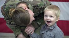 IMAGES: 'Best day ever': Paratroopers return from Iraq, reunite with families at Fort Bragg