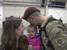 More than 70 paratroopers were back with their families early Friday after returning to Fort Bragg following a nine-month deployment to Iraq.