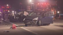 Officials said one person died early Sunday morning in a two-car wreck on I-40.