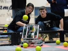 Hillside New Tech High School hosted a robotics competition on Saturday, Feb. 20, 2016.