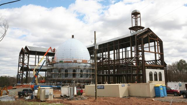 2/27: The Catholic Diocese of Raleigh's new cathedral is on track to be completed by fall 2017.