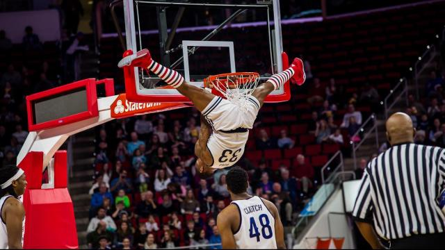 The Harlem Globetrotters celebrate 90 years and take on the World All-Stars at the PNC Arena in Raleigh on February 27, 2016.