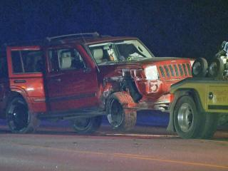 SUV crashes into power pole, forcing temporary closure of Raleigh road