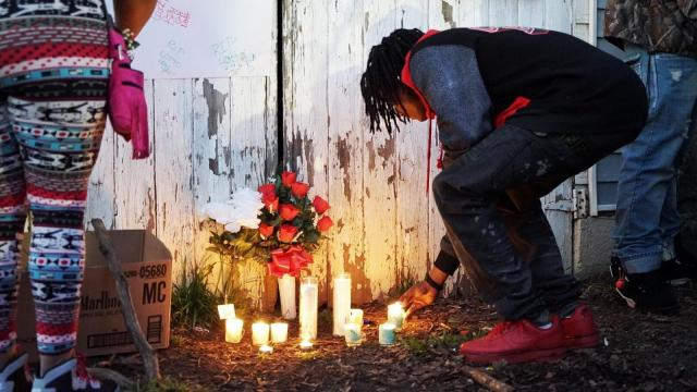 Vigil for man killed by Raleigh officer