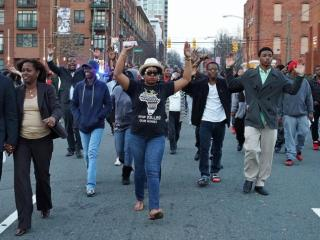 A group protesting the officer-involved shooting of 24-year-old Akiel Rakim  blocked Raleigh streets Tuesday afternoon.
