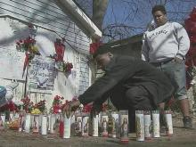Community makes makeshift memorial to remember man killed by police