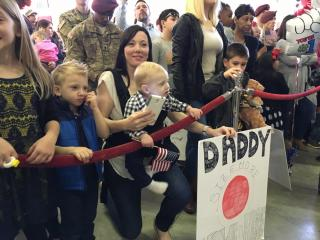 Friends and family of paratroopers in the 82nd Airborne Division waited early Wednesday morning at Fort Bragg for their loved ones to return home.