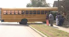 IMAGES: No students injured in Wake Forest school bus accident