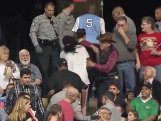 Man charged with assaulting protesters during Trump rally in Fayetteville