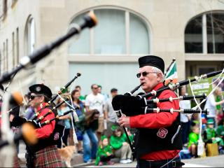NC State backpipers at the Raleigh St. Patrick's Day Parade and Festival (Dave Shay / WRAL Contributor)