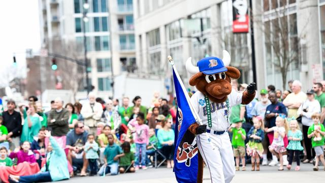 The Durham Bulls were well represented at the Raleigh St. Patrick's Day Parade and Festival! (Dave Shay / WRAL Contributor)