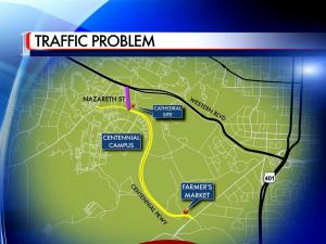 Officials with the City of Raleigh say they have a fix to help ease the traffic backups on Nazareth Drive, Western Boulevard and Avent Ferry Road in west Raleigh.