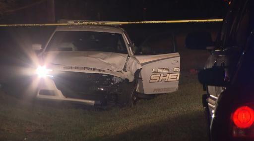 A person riding an ATV died early Friday morning after colliding with a cruiser driven by a Lee County sheriff's deputy near Sanford.