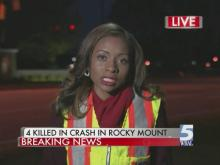 4 killed in crash outside Rocky Mount college