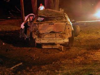 A 24-year-old man died in a wreck late Saturday after leading Moore County authorities on a high-speed chase, according to the North Carolina State Highway Patrol. (Photo courtesy Billy Marts)