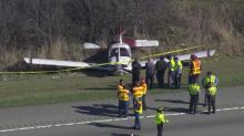 IMAGES: Pilot plans to fly again after I-540 landing