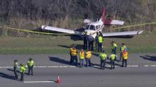 Plane lands on I-540
