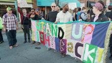 IMAGES: HB2 protesters close Franklin Street