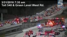 Wreck shuts down NC-540 north