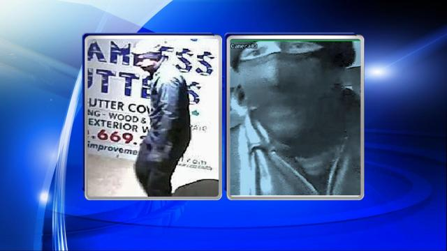 Raleigh police are searching for a man who burglarized multiple businesses in February by entering through the roofs of the buildings.