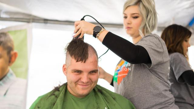 Volunteers from Starbucks participating at St. Baldrick's. Photos by: Carlton Bassett