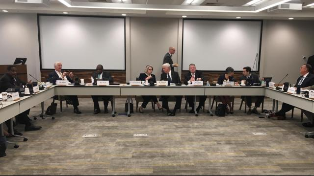 The UNC Board of Governors meeting on Friday was interrupted by protesters after it was moved from Asheville to Chapel Hill due to concerns about other potential protests.
