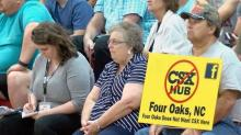 People come out to oppose CSX hub