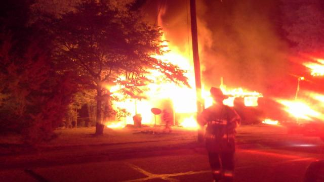 A Fayetteville home is considered a total loss after a fire engulfed the building early Thursday morning.